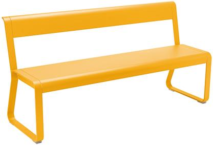 Bellevie Bench with Back Honey