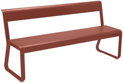 Bellevie Bench with Back Red ochre