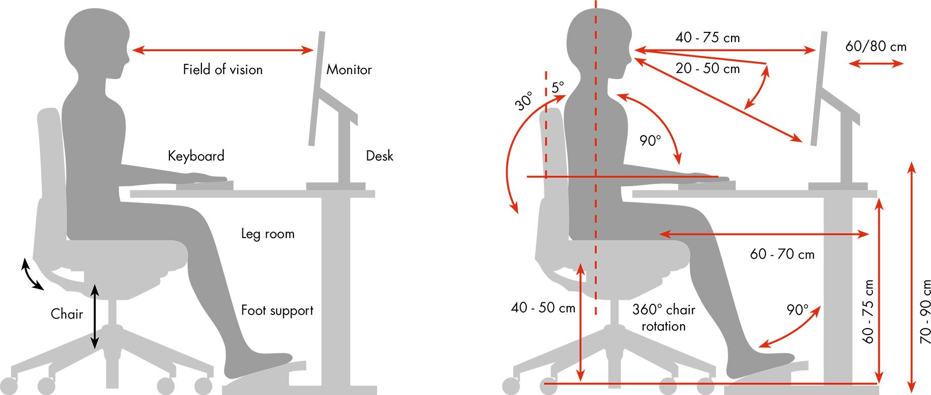 Ergonomics - the most important questions & answers correct seating position