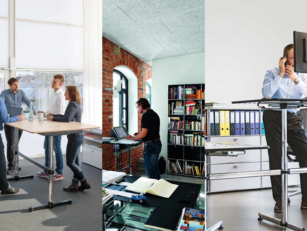 Good reasons for a height-adjustable desk standing at work