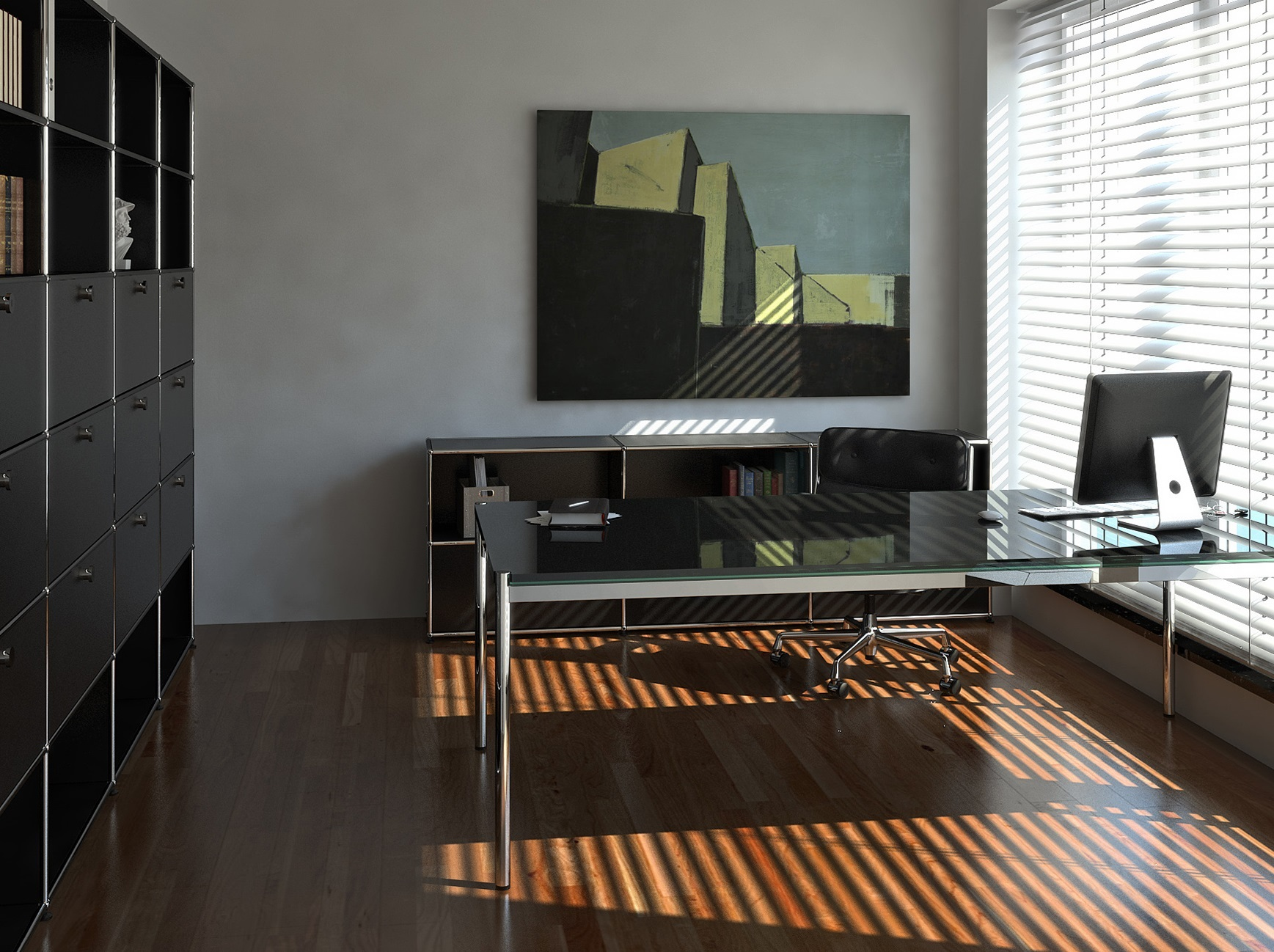 Setting up and planning a contemporary office individual office