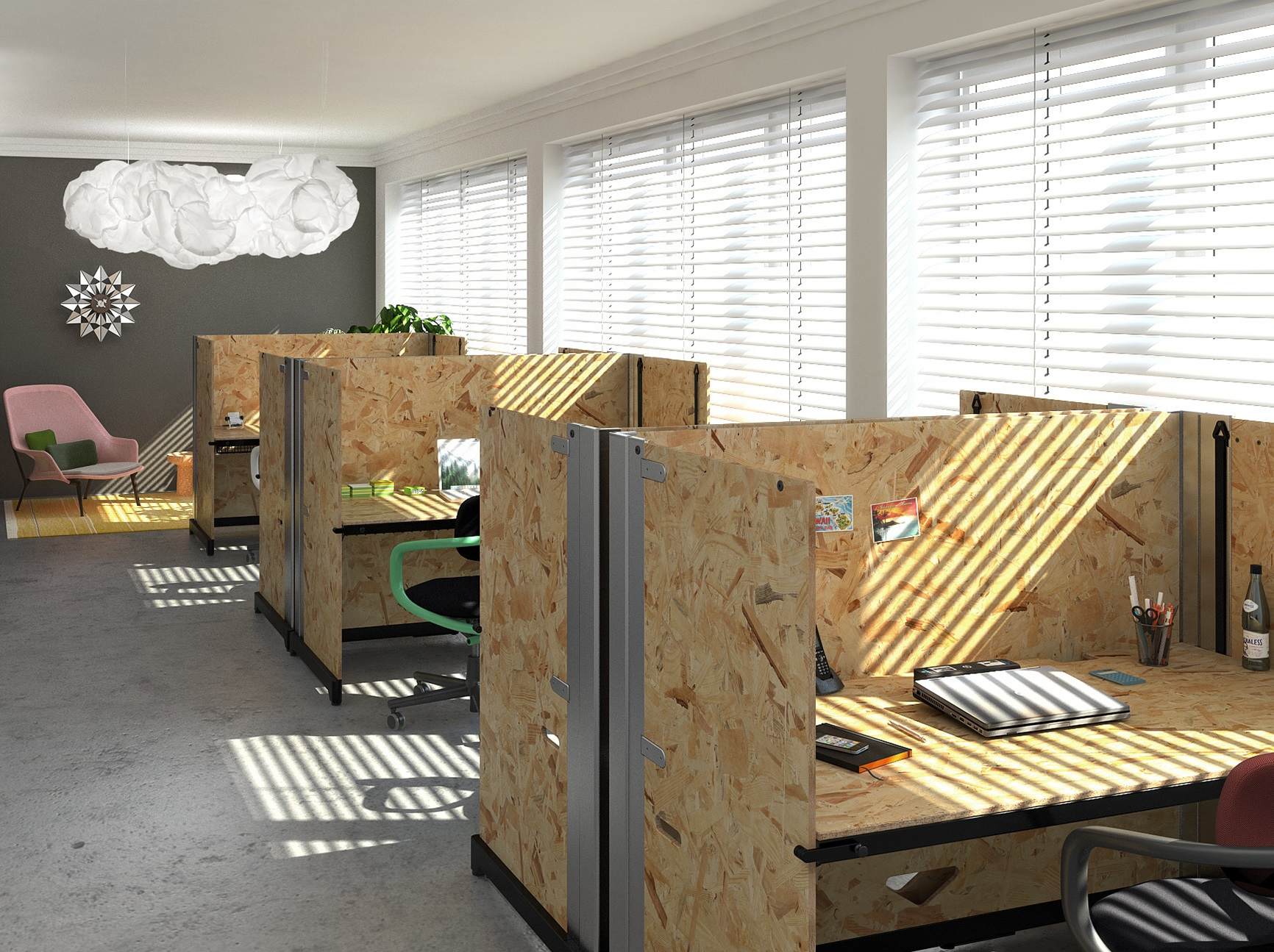 Setting up and planning a contemporary office open plan