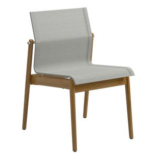 Sway Teak Chair Powder coated white|Fabric Sling seagull|Without armrests