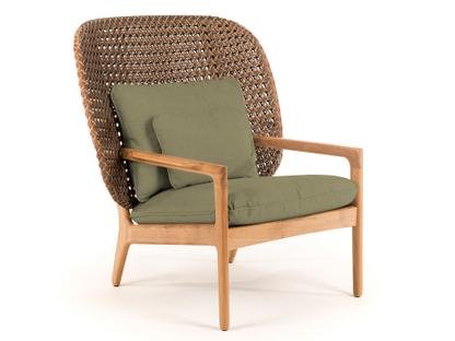 Kay Highback Lounge Chair Brindle|Fife Lichen|Without Ottoman