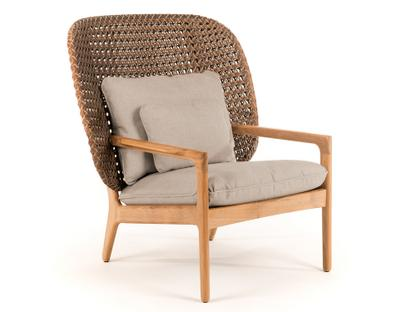 Kay Highback Lounge Chair Brindle|Fife Rainy Grey|Without Ottoman