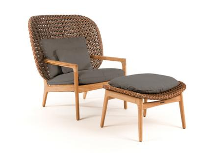Kay Highback Lounge Chair Brindle|Fife Platinum|With Ottoman