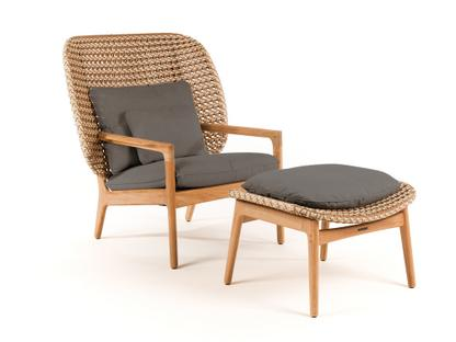 Kay Highback Lounge Chair Harvest|Fife Platinum|With Ottoman