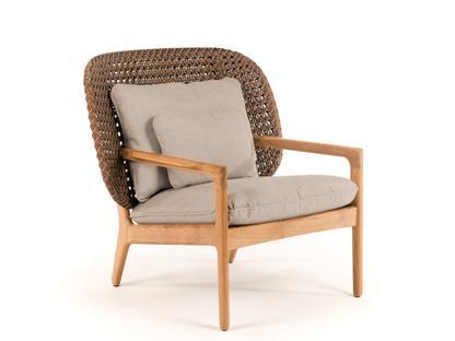 Kay Lowback Lounge Chair Brindle|Fife Rainy Grey