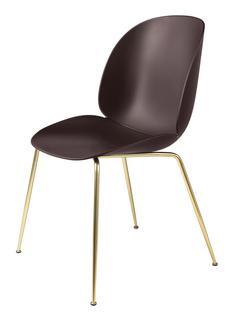 Beetle Dining Chair Dark pink Brass