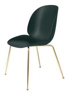 Beetle Dining Chair Green|Brass