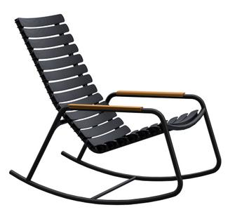 ReCLIPS Rocking Chair Black|Bamboo armrests