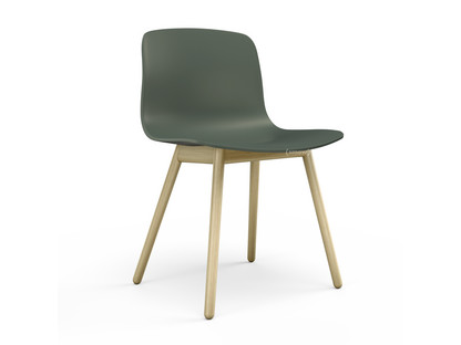 About A Chair AAC 12 Dusty green Clear lacquered oak
