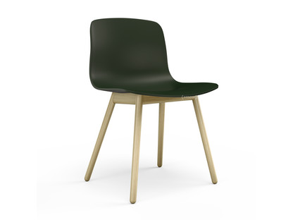 About A Chair AAC 12 Green|Clear lacquered oak