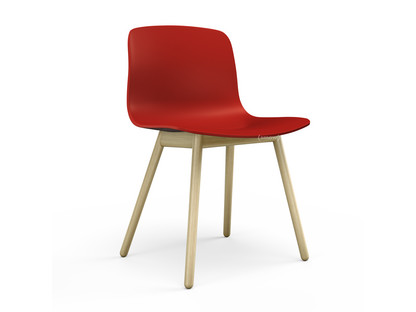 About A Chair AAC 12 Warm red|Clear lacquered oak