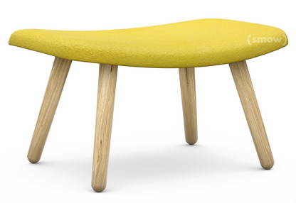 About A Lounge Ottoman AAL 03 Hallingdal 420 - yellow|Clear lacquered oak