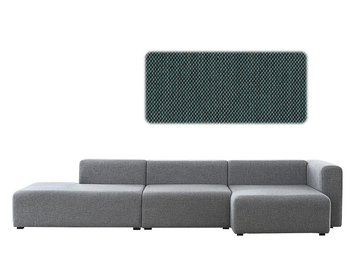 Mags Sofa Hay : Hay mags sofa with récamière right armrest steelcut trio