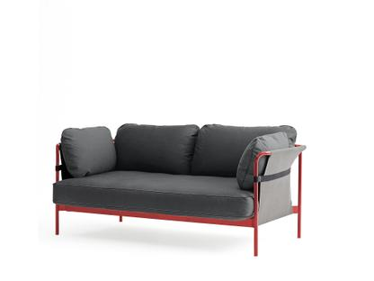 Can Sofa Two-seater|Warm red|Grey|Canvas grey