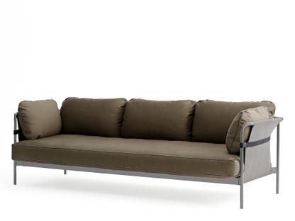Can Sofa Three-seater|Dusty grey|Grey|Canvas army