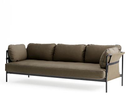 Can Sofa Three-seater|Black|Army|Canvas army