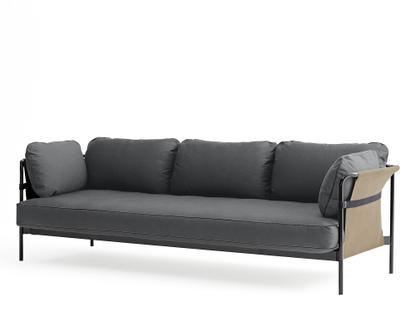 Can Sofa Three-seater|Black|Army|Canvas grey