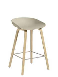 About A Stool AAS 32 Kitchen version: seat height 64 cm|Soap treated oak|Pastel green