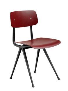 Result Chair Dark brick stained oak  Steel black powder-coated