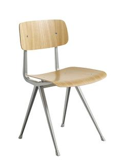 Result Chair Clear lacquered oak|Steel beige powder-coated