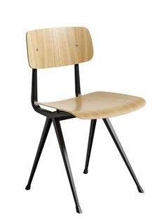 Result Chair Clear lacquered oak|Steel black powder-coated