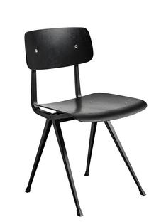 Result Chair Black stained oak|Steel black powder-coated