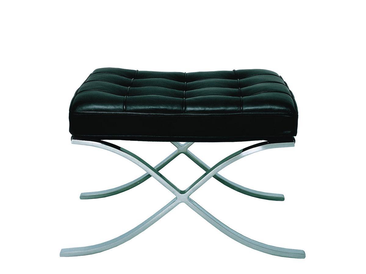 knoll international barcelona stool by ludwig mies van der. Black Bedroom Furniture Sets. Home Design Ideas