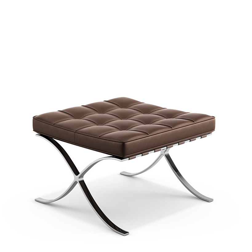 Knoll International Barcelona Stool By Ludwig Mies Van Der Rohe