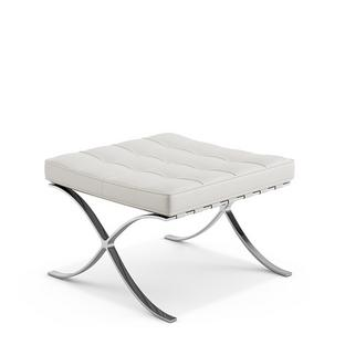 Barcelona stool Volo|Parchment  sc 1 st  smow.com & Knoll International Barcelona stool Volo Parchment by Ludwig Mies ...