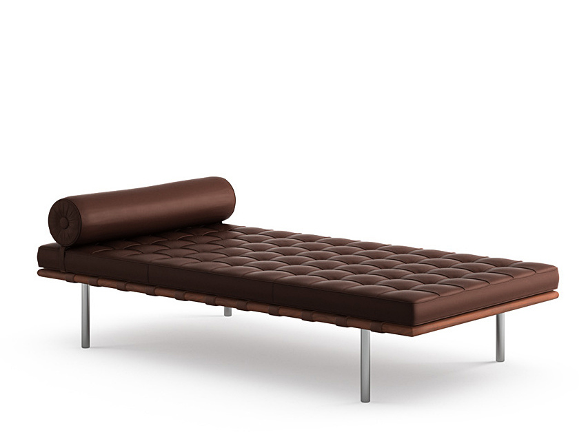 knoll international barcelona day bed volo coffee bean by ludwig mies van der rohe 1930. Black Bedroom Furniture Sets. Home Design Ideas