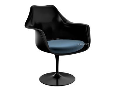 Saarinen Tulip Armchair Static Seat cushion Black Night Blue (Eva 170)