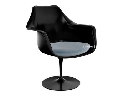 Saarinen Tulip Armchair Swivel Seat cushion Black Steel (Eva 172)
