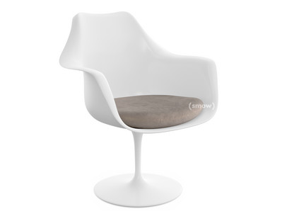 Saarinen Tulip Armchair Static|Seat cushion|White|Beige (Eva 177)