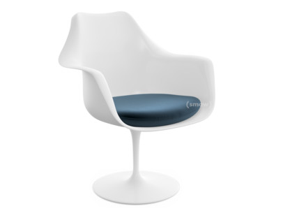 Saarinen Tulip Armchair Static|Seat cushion|White|Night Blue (Eva 170)