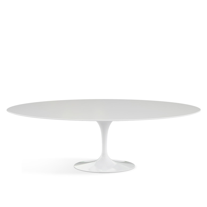 Knoll international saarinen oval dining table by eero for Esstisch glas oval