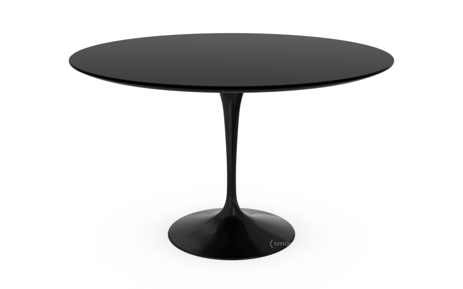 Knoll International Saarinen Round Dining Table Cm Black - Saarinen table white laminate