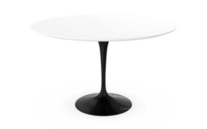 Saarinen Round Dining Table 120 Cm|Black|Laminate White