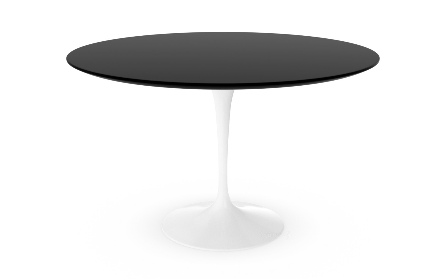 Knoll International Saarinen Round Dining Table Cm White - Saarinen table white laminate