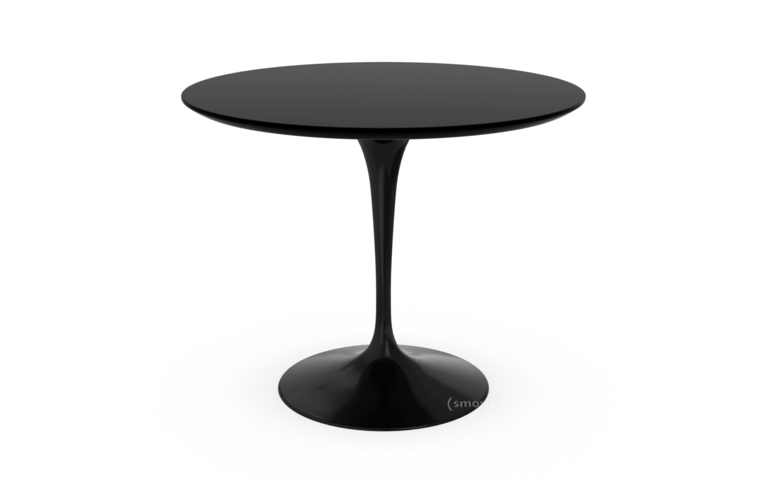 Knoll International Saarinen Round Dining Table 91 Cm Black Laminate Black By Eero Saarinen 1955 1957 Designer Furniture By Smow Com