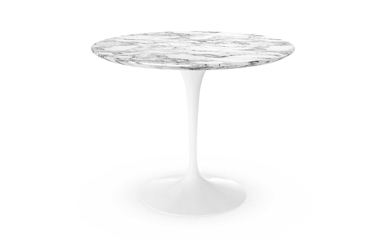 Knoll International Saarinen Round Dining Table Cm White - Knoll pedestal table