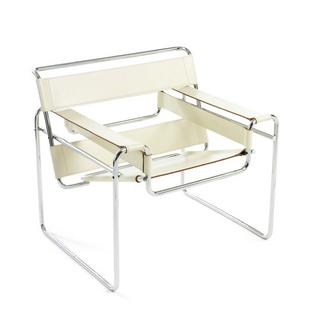 Wassily Sessel knoll international wassily chair cattle hide white by