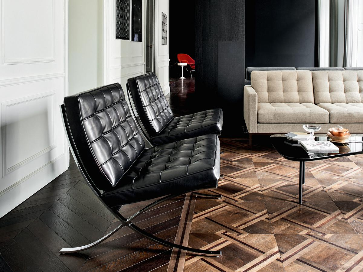 Knoll international barcelona chair relax by ludwig mies for Sofa skandinavisches design