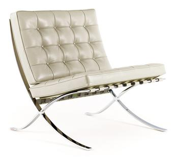 Barcelona Chair Relax Leather Venezia   Ivory
