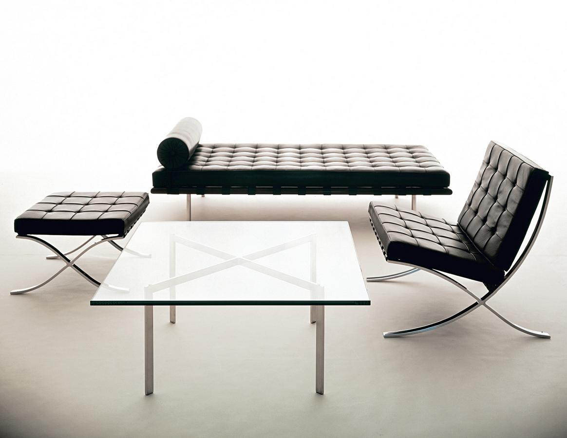 knoll international barcelona stool relax by ludwig mies van der rohe 1929 designer furniture. Black Bedroom Furniture Sets. Home Design Ideas