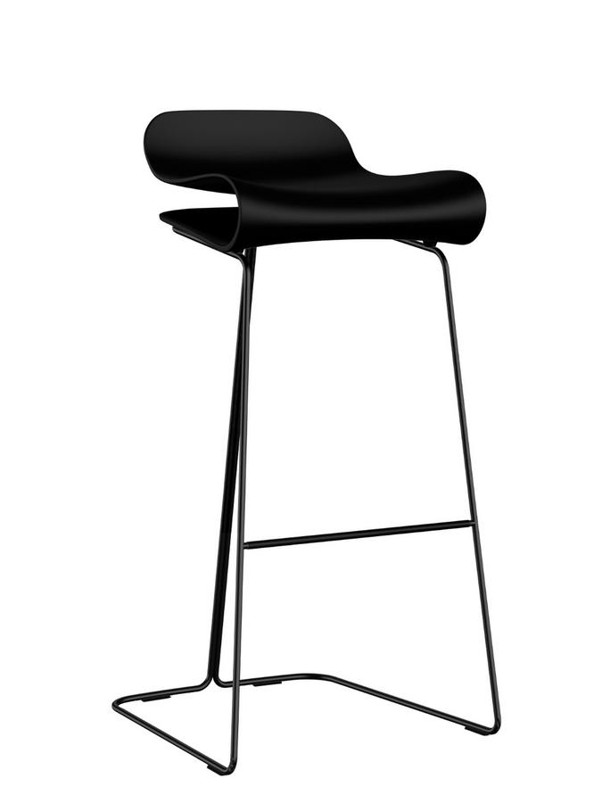 Outstanding Kristalia Bcn Bar Stool Black Steel Shell Colour Bar Version 76 Cm Andrewgaddart Wooden Chair Designs For Living Room Andrewgaddartcom