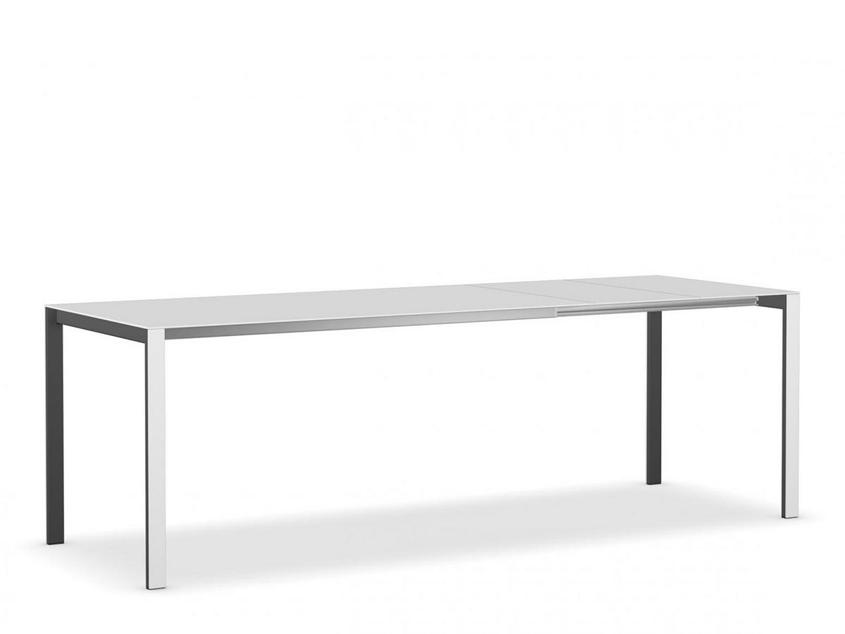 - Kristalia Thin-K Dining Table, White, Black By Luciano Bertoncini
