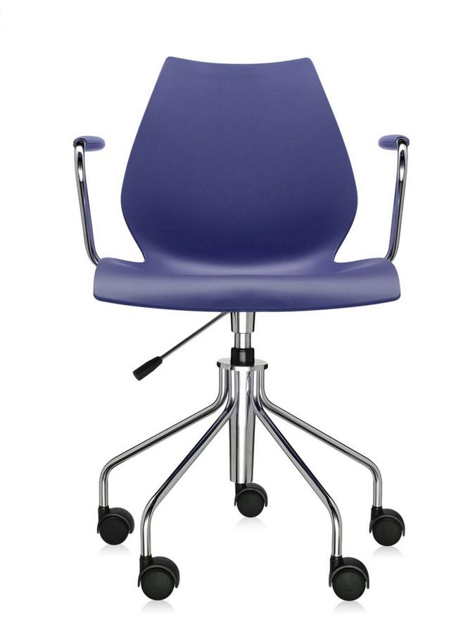 Maui Swivel Chair With Armrests|Sea Blue
